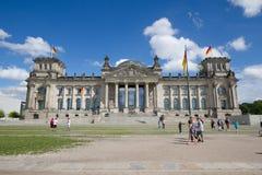 Reichstag i Berlin, Tyskland royaltyfri foto