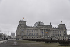 Reichstag i Tyskland Arkivfoto