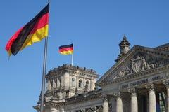 Reichstag, il Parlamento famoso della Germania Immagini Stock Libere da Diritti