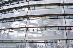 Reichstag kopuły szczegół zdjęcia stock