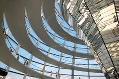 Reichstag kopuły wnętrze Zdjęcia Stock
