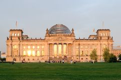 Reichstag at morning light Stock Photos