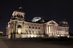 Reichstag by night Royalty Free Stock Photo