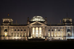 The Reichstag at night in Berlin Stock Photos