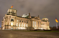 Reichstag at night, Berlin Stock Image