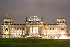 Reichstag at night Royalty Free Stock Image