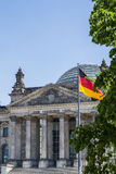 Reichstag. One of the most popular buildings in Berlin Royalty Free Stock Photo