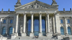 The Reichstag palace stock footage