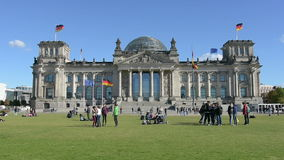 The Reichstag palace stock video footage