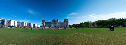 Reichstag panorama Stock Images