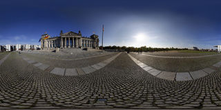 Reichstag panorama Royalty Free Stock Image