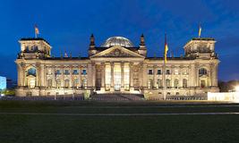 Reichstag, panoramic view at night Stock Images