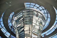 Reichstag - Parlamentsgebäude Stockbild