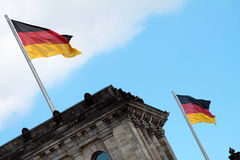 Reichstag (parliament building) in Berlin Royalty Free Stock Photo