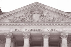 Reichstag Parliament Building, Berlin Stock Photography