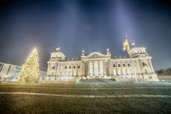 Reichstag Parliament Buildings in Berlin, Germany Royalty Free Stock Photos