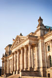 The Reichstag photographed during sunset Royalty Free Stock Images