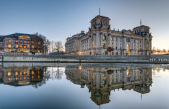 The Reichstag at the river Spree in Berlin Stock Image