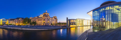 Reichstag, River Spree, Berlin Stock Images