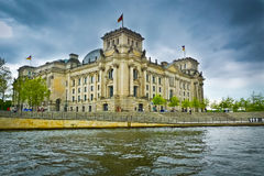 Reichstag and Spree River Royalty Free Stock Photo