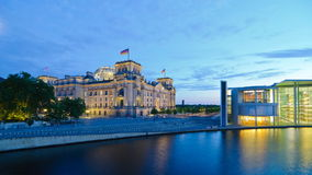 Reichstag and spree river in berlin, germany stock footage