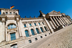 Reichstag V2. Berlin Reichstag government with blue sky Stock Image