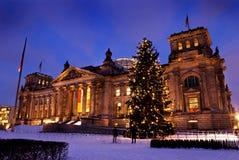 Reichstag weihnachten Berlin zdjęcie stock