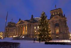 Reichstag weihnachten berlin Stock Photos