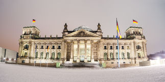 Reichstag winter Royalty Free Stock Image