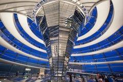 Reichstagen som bygger Berlin Germany Fotografering för Bildbyråer