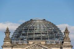 Reichstagkoepel - bovenkant van Reichstag-de bouw in Berlijn, royalty-vrije stock afbeelding