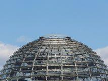 Reichstagkoepel - bovenkant van Reichstag-de bouw in Berlijn, royalty-vrije stock fotografie