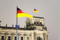 Reichstagvlag Royalty-vrije Stock Foto's