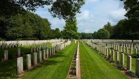 Reichswald WW2 War Cemtery Germany. Stock Photos