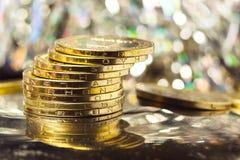 Reichtum, Münzen Stockbild