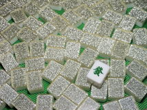 Reichtum - Mahjong deckt Oberseite unten mit Ziegeln Lizenzfreie Stockfotos