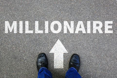 Reichtumskarrieregeschäftsmann-Erfolgs des Millionärs erfolgreiche BU des reichen stockfotografie