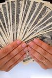 Reichweite der Dollarscheine Lizenzfreies Stockbild