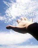 Reichweite für den Himmel Stockbilder