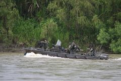 Reid Marines on the river  Guaviarei Royalty Free Stock Photography