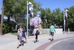 Reid zoo Parkowy wejście, Tucson, Arizona Obraz Royalty Free