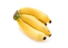 Reife Banane auf Weiß Stockbild