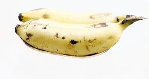 Reife Banane getrennt Stockfotografie
