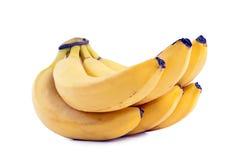 Reife Bananen auf einem weißen Hintergrund. Stockbilder