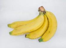 Reife Bananen, weißer Hintergrund Stockbild