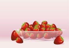 Reife Erdbeeren Stockbild