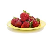 Reife Erdbeeren Stockfotos