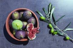 Reife Feigen oliven Lizenzfreies Stockbild