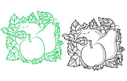 Reife Früchte in der Retro- Art Lizenzfreies Stockbild