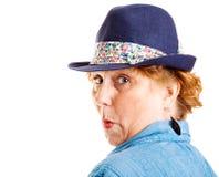 Reife Frau überrascht Lizenzfreies Stockbild